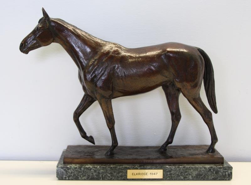 "NEWMARK, Marilyn. Bronze Sculpture ""Elkridge""."