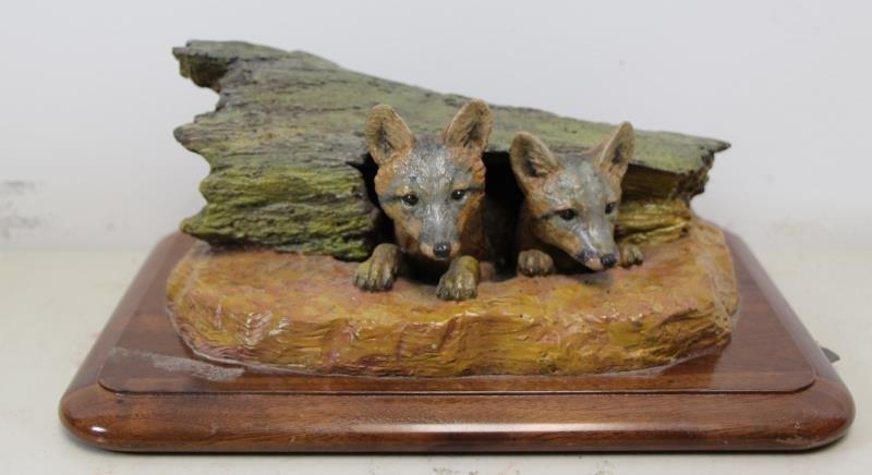 """NEWMARK, Marilyn. Bronze Sculpture """"Foxes Den""""."""