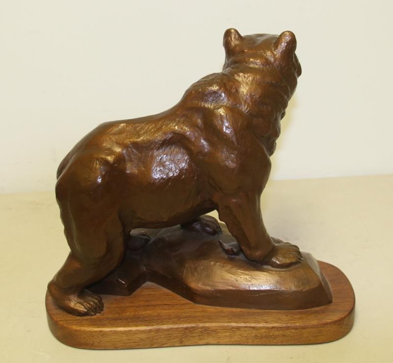 MADSEN, Roy. Bronze Sculpture Bear with Fish. - 4