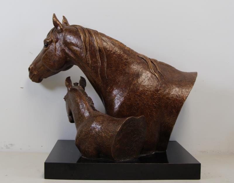 "NEWMARK, Marilyn. Bronze Clad Sculpture, ""Twosome"" - 3"