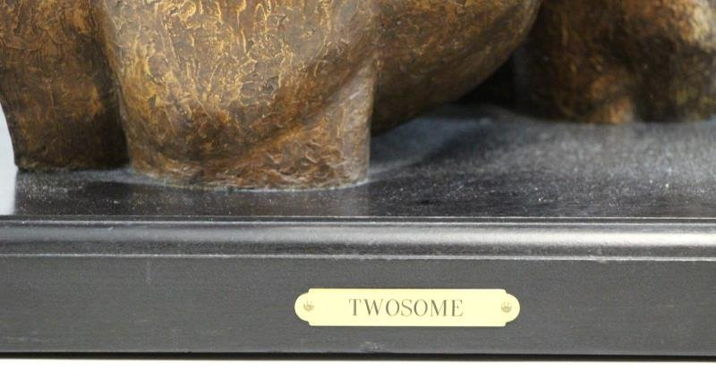 "NEWMARK, Marilyn. Bronze Clad Sculpture,""Twosome"". - 2"