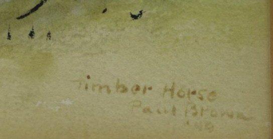 BROWN, Paul. Pair of Equestrian Watercolors. - 4
