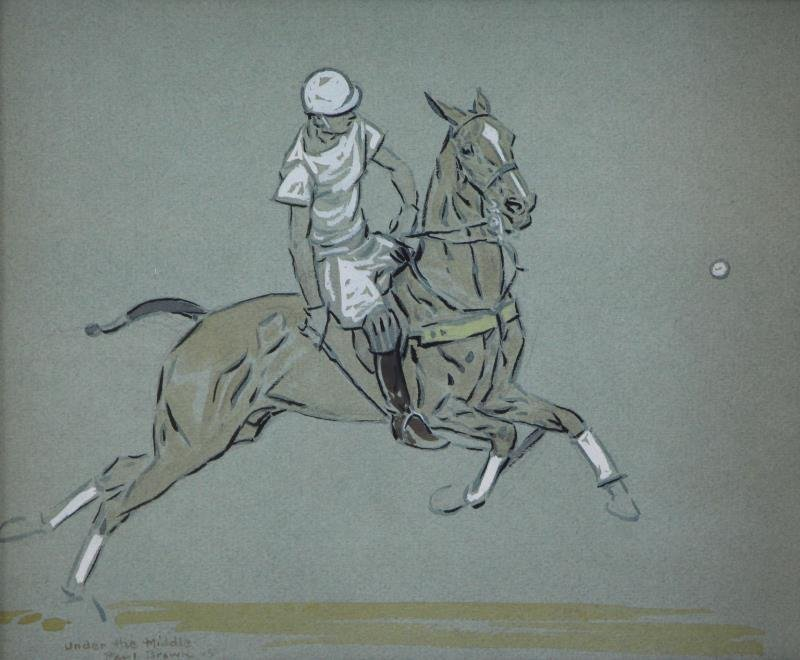 BROWN, Paul. Pair of Gouaches / Paper. Polo - 2