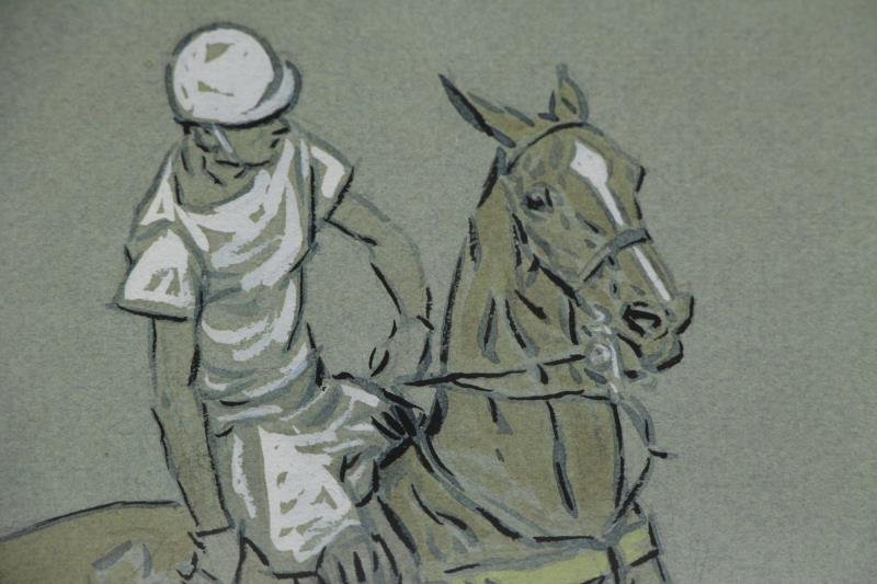 BROWN, Paul. Pair of Gouaches / Paper. Polo - 3