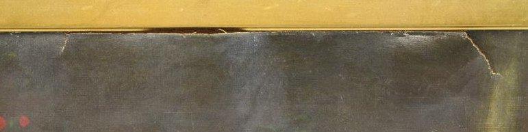 19th C. Oil on Canvas. Sleeping Cherub. - 5