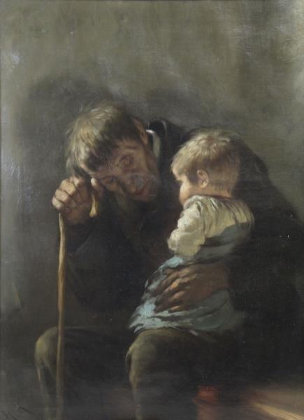 KAULBACH, Hermann. Oil on Canvas. Elderly Man