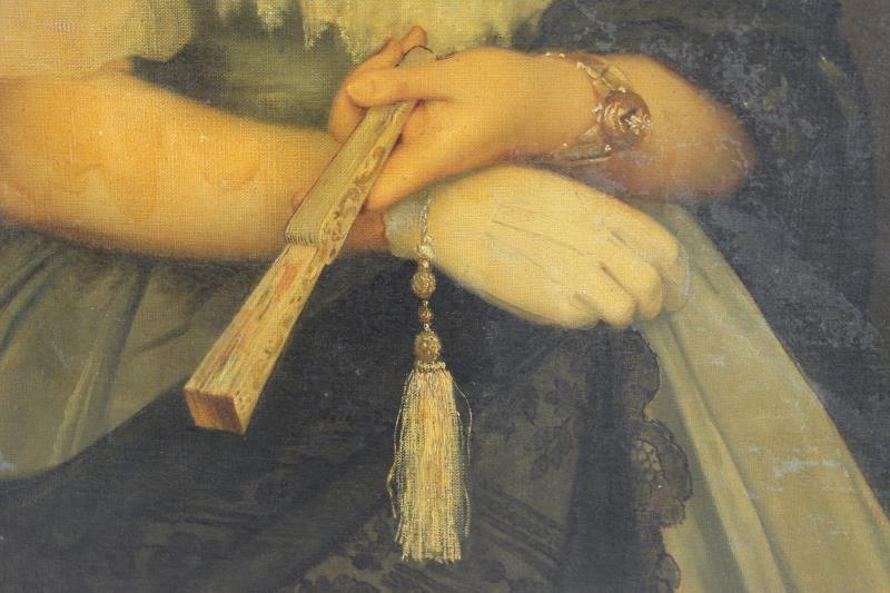 TILLIER, Paul. Oil on Canvas Portrait of a Beauty. - 3