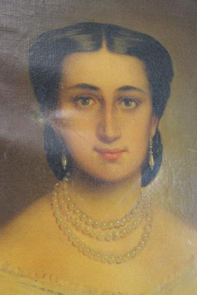 TILLIER, Paul. Oil on Canvas Portrait of a Beauty. - 4