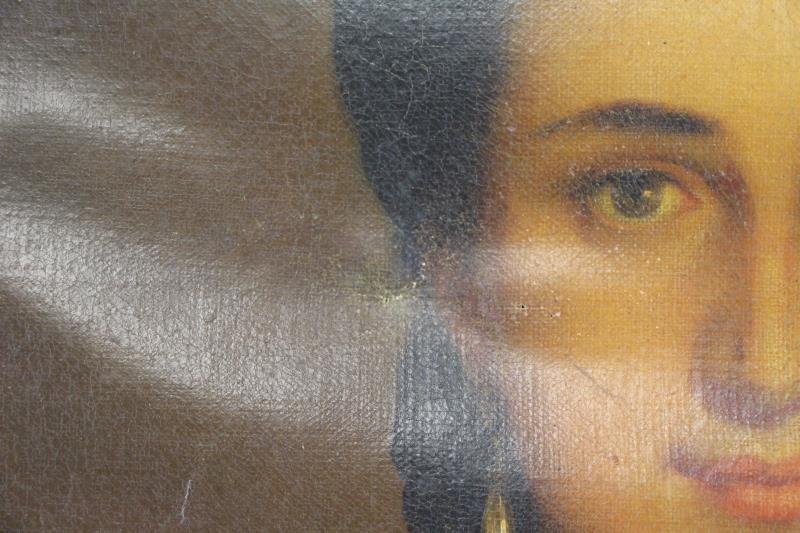 TILLIER, Paul. Oil on Canvas Portrait of a Beauty. - 5