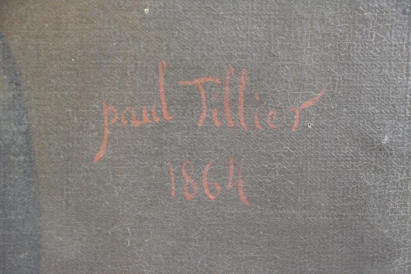 TILLIER, Paul. Oil on Canvas Portrait of a Beauty. - 6