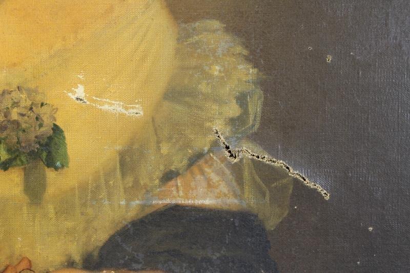 TILLIER, Paul. Oil on Canvas Portrait of a Beauty. - 8