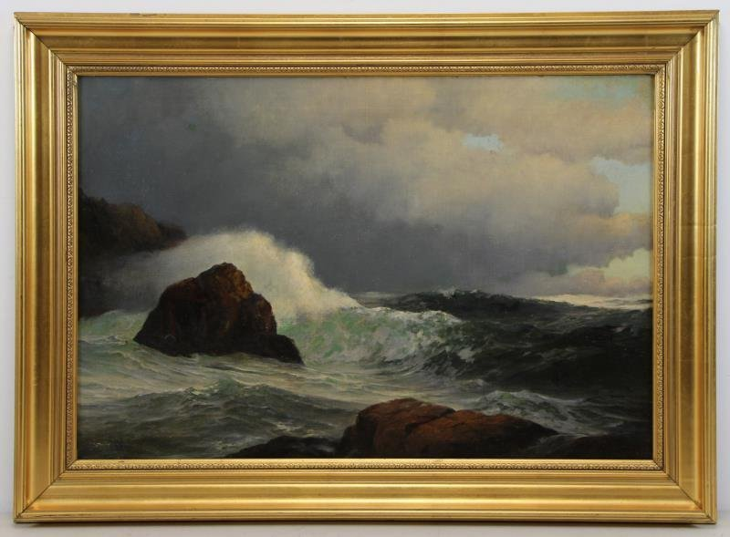 SHEPPARD, Warren. Oil on Canvas. Crashing Waves. - 2