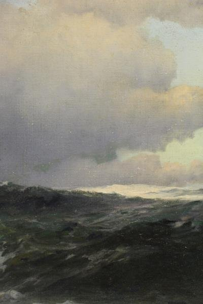SHEPPARD, Warren. Oil on Canvas. Crashing Waves. - 3