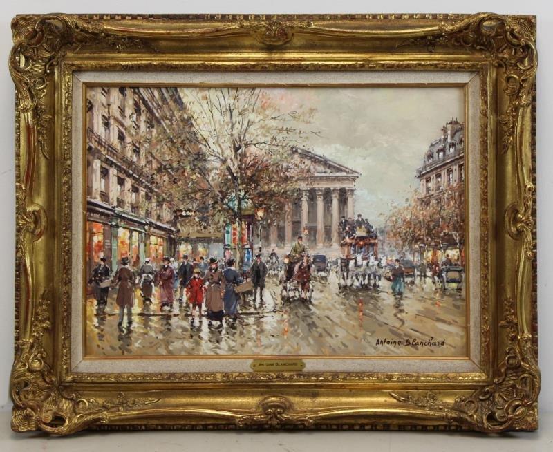 "BLANCHARD, Antoine. Oil on Canvas. ""Rue Royale et - 2"