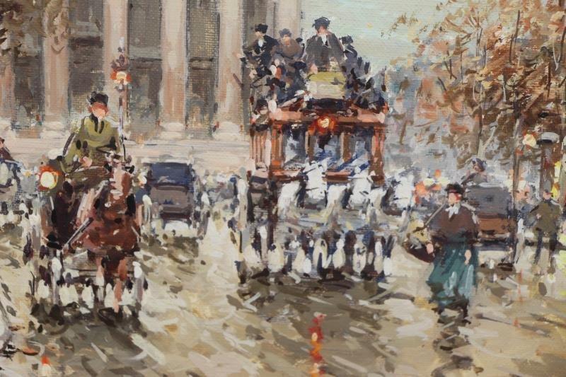 "BLANCHARD, Antoine. Oil on Canvas. ""Rue Royale et - 3"