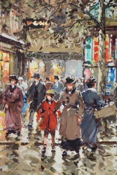 "BLANCHARD, Antoine. Oil on Canvas. ""Rue Royale et - 4"
