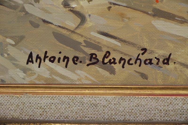 "BLANCHARD, Antoine. Oil on Canvas. ""Rue Royale et - 5"