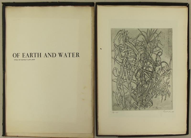 "PETERDI, Gabor. ""Of Earth and Water"" Portfolio of"