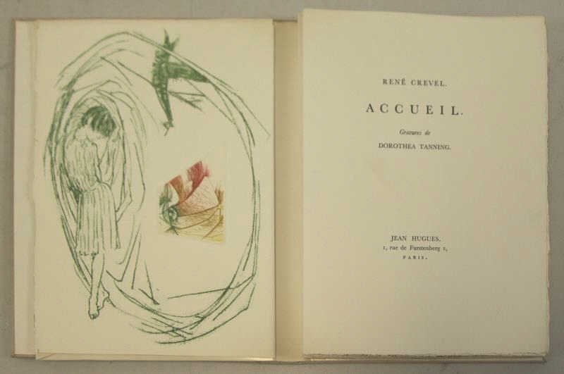 """TANNING, Dorothea & Rene Crevel. """"Accueil"""""""