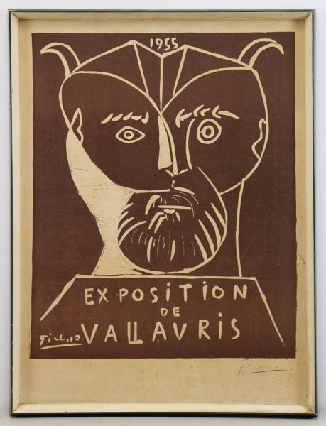 """PICASSO, Pablo. """"Exposition de Vallauris"""" Linocut - 2"""