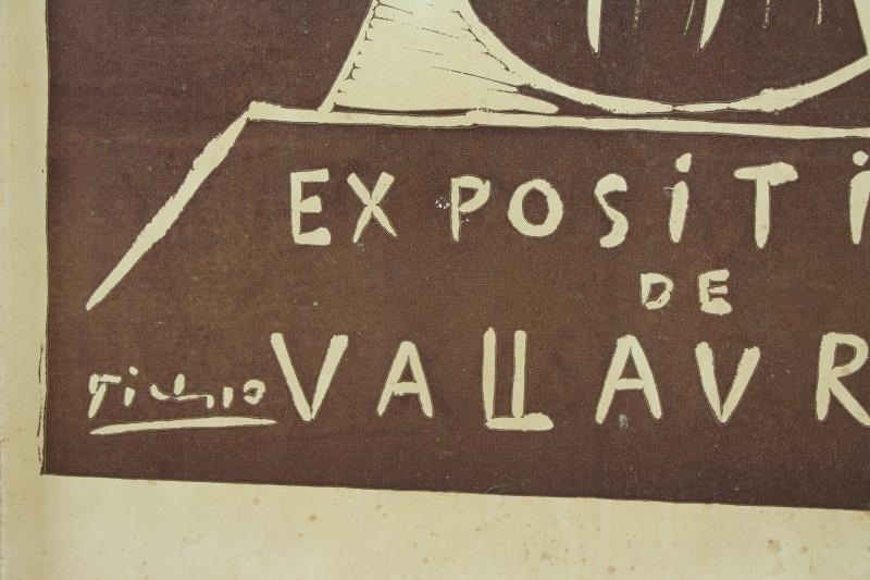 """PICASSO, Pablo. """"Exposition de Vallauris"""" Linocut - 3"""