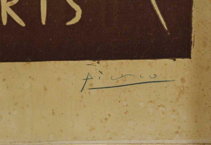 """PICASSO, Pablo. """"Exposition de Vallauris"""" Linocut - 4"""