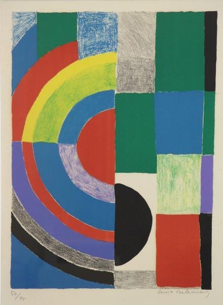 DELAUNAY, Sonia. Untitled Color Lithograph.