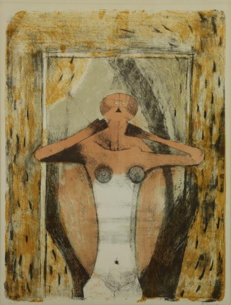 """TAMAYO, Rufino. Color Lithograph """"Torse de Femme""""."""