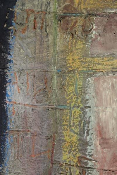 "SAMANT, Mohan. Mixed Media on Canvas ""Kaveri- - 3"