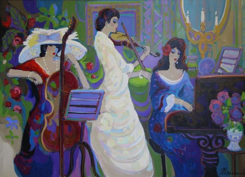 MAIMON, Isaac. Oil on Canvas. Musicians in
