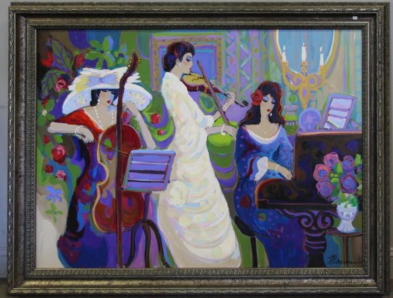 MAIMON, Isaac. Oil on Canvas. Musicians in - 2