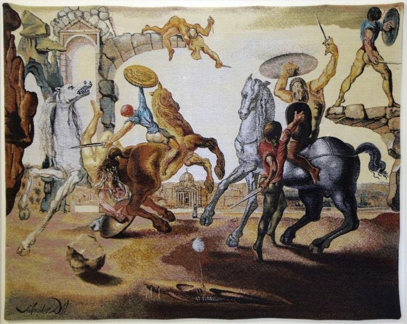 "DALI, Salvador. Tapestry ""Battle Around a"