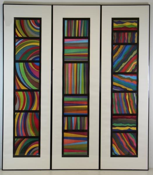 LEWITT, Sol. Set of 3 Aquatints. Bands of Color