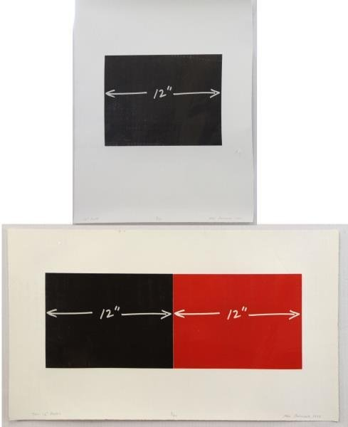 BOCHNER, Mel. Two Signed Etchings and Aquatints.