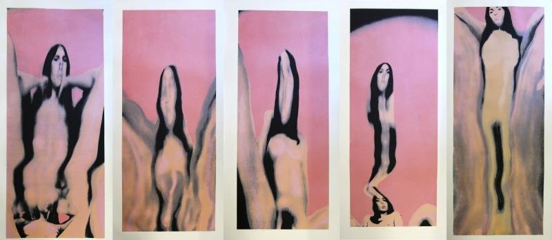 BELL, Larry. Untitled (Nudes) 1974. Set of 5 Color