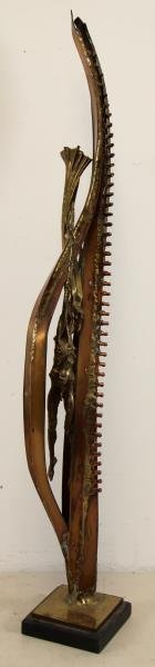 RICE, Sean. Bronze and Copper Figural Sculpture.