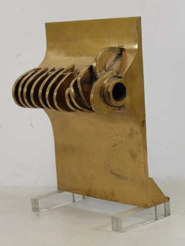KAISH, Luise. Polished Bronze & Lucite Abstract - 2