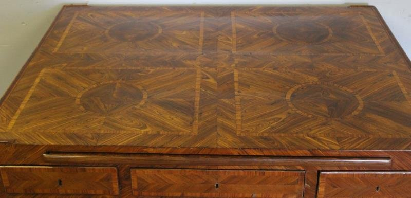 Antique Continental Parquetry Inlaid 2 Drawer - 3