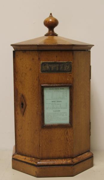 Antique English Mail Box Form Oak Letter Organizer
