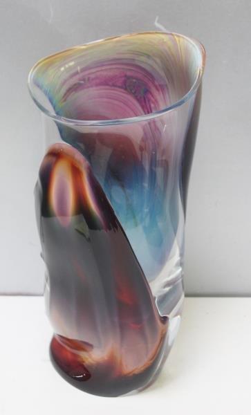 Large Dino Rosin Murano Glass Vase.