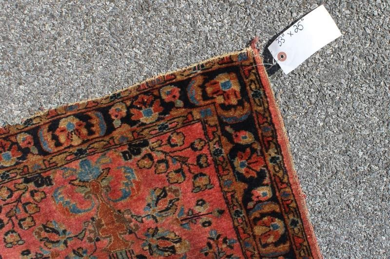 2 Finely Woven Antique Sarouk Prayer rugs - 2