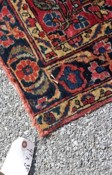 2 Finely Woven Antique Sarouk Prayer rugs - 4