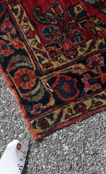 2 Finely Woven Antique Sarouk Prayer rugs - 5