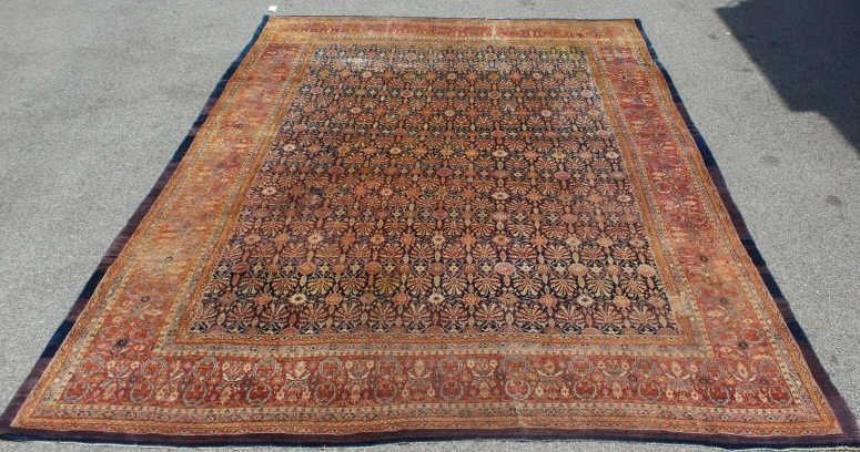 Antique Finely Woven Handmade Roomsize Carpet