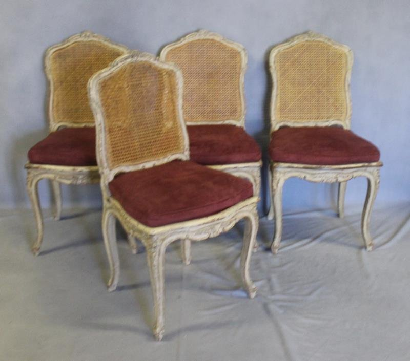 4 Quality and Decorative French Style Chairs.