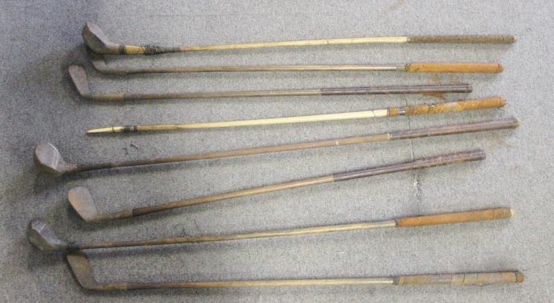 Lot Of Vintage Hickory Golf Clubs . - 2