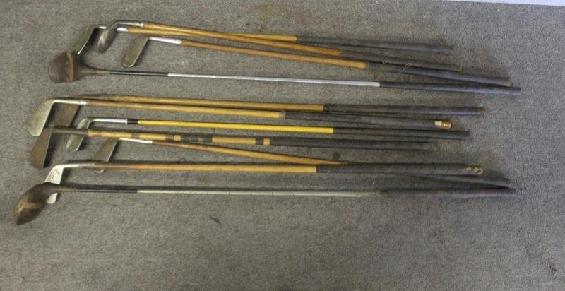 Lot Of Vintage Hickory Golf Clubs . - 8