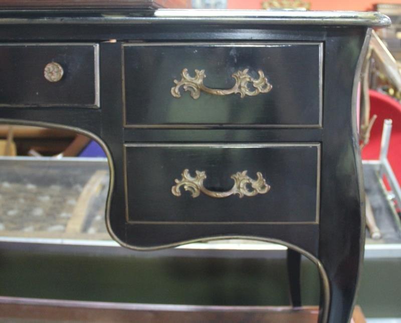 Louis XV Style Paint And Gilt Decorated Bureau - 6