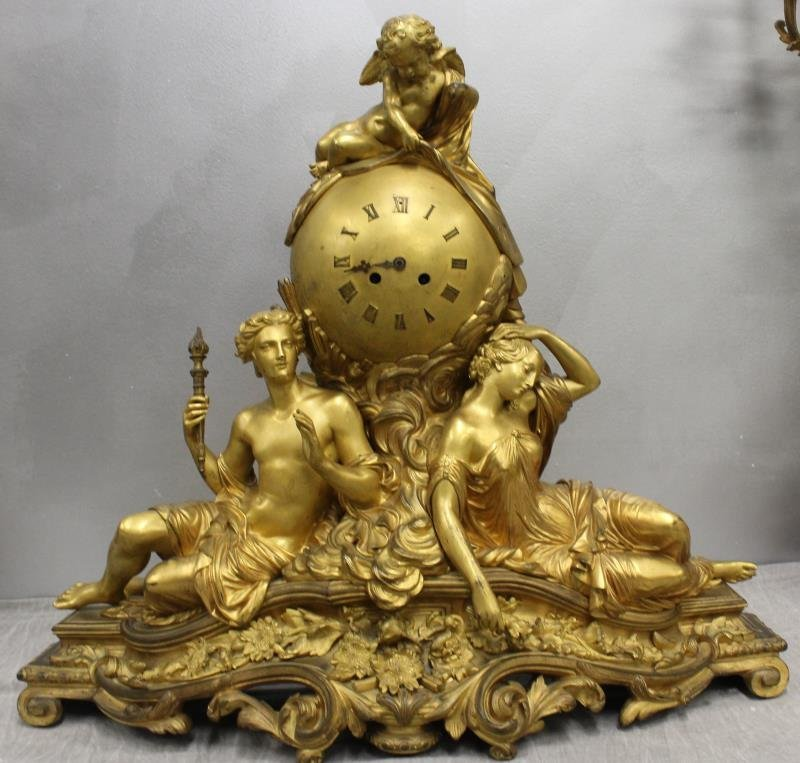Large And Impressive Dore Bronze French Figural