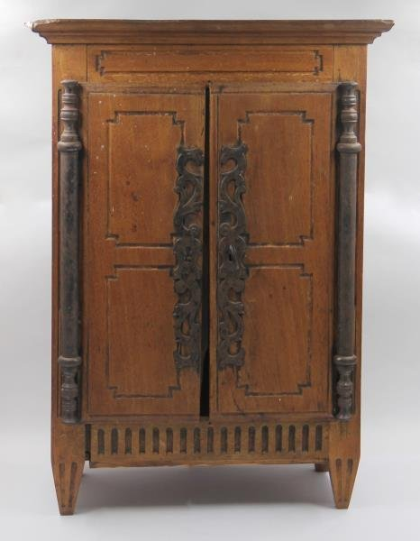 19th Century Miniature French Provincial Armoire.